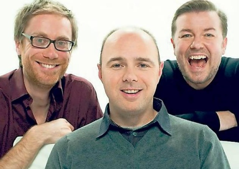Ricky Gervais, Karl Pilkington and Stephen Merchant